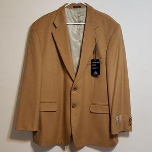 Stafford Camel Hair Blend Sport Coat Jacket 48 R